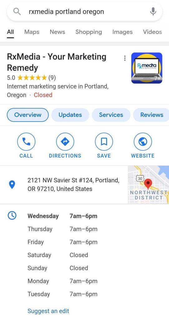 google my business portland